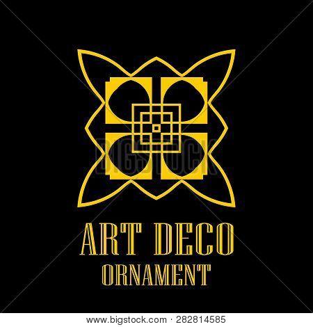 Geometric Ornamental Retro Vintage Art Deco Logo For Design And Decoration. Vintage Retro Ornamental