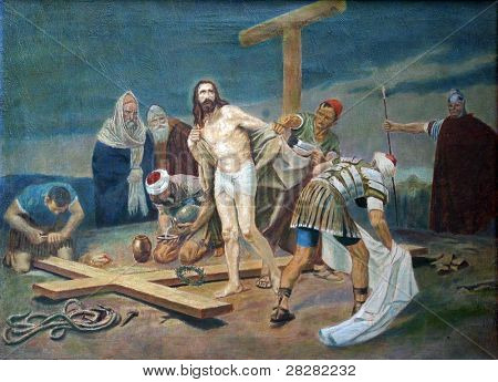 10th Station of the Cross - Jesus is stripped of His garments