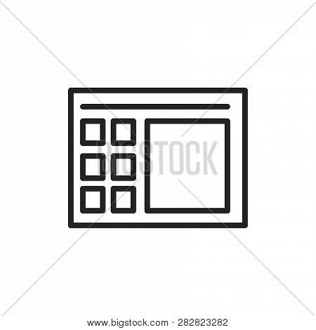 Calculator Vector Icon On White Background. Calculator Icon In Modern Design Style. Calculator Vecto