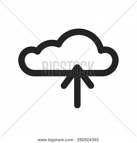 Cloud Computing Vector Icon On White Background. Cloud Computing Icon In Modern Design Style. Cloud