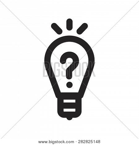 Light Bulb Vector Icon On White Background. Light Bulb Icon In Modern Design Style. Light Bulb Vecto