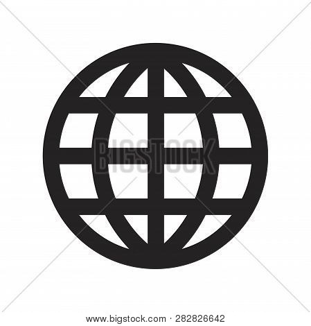 Grid World Vector Icon On White Background. Grid World Icon In Modern Design Style. Grid World Vecto
