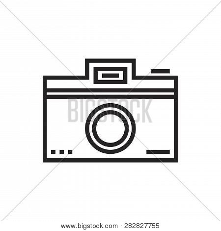 Photo Camera Vector Icon On White Background. Photo Camera Icon In Modern Design Style. Photo Camera