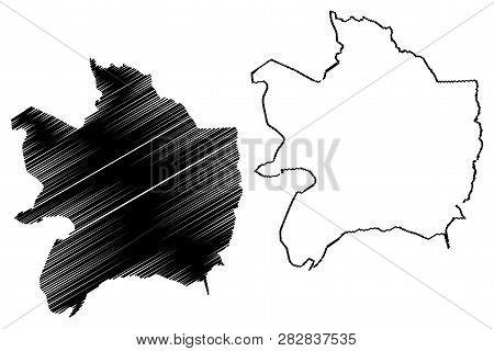 Razavi Khorasan Province (provinces Of Iran, Islamic Republic Of Iran, Persia) Map Vector Illustrati
