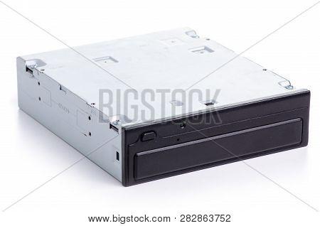 Cd Rom Technology On White Background Isolation