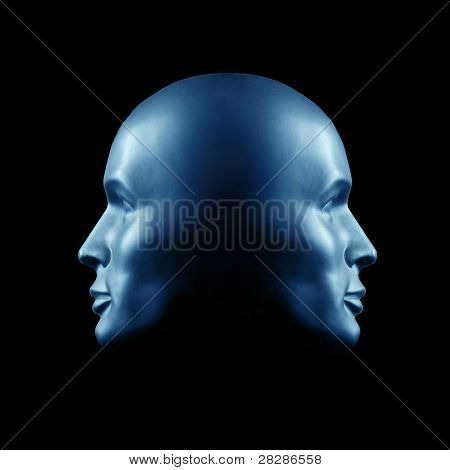Two-faced Head Statue