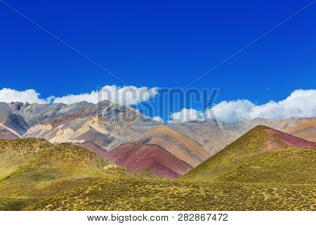 Unusual mountains landscape in Andes, Agrentina.