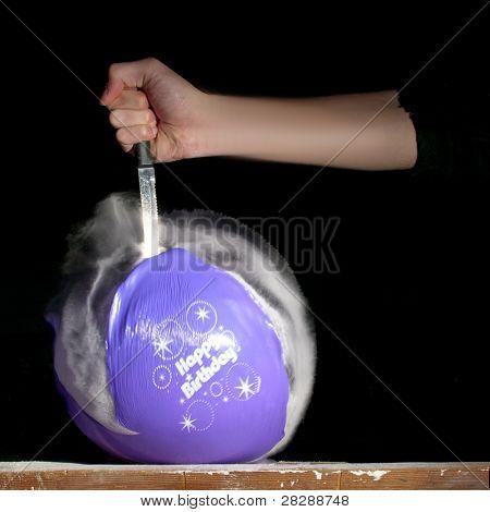 alles Gute zum Geburtstag Ballon knallend