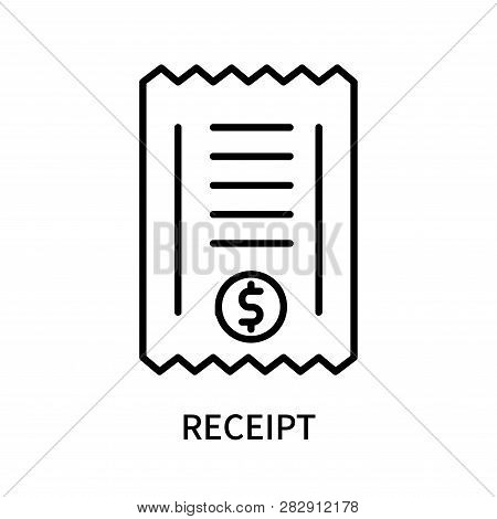 Receipt Icon Isolated On White Background. Receipt Icon Simple Sign. Receipt Icon Trendy And Modern