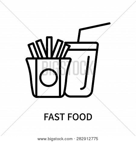 Fast Food Icon Isolated On White Background. Fast Food Icon Simple Sign. Fast Food Icon Trendy And M