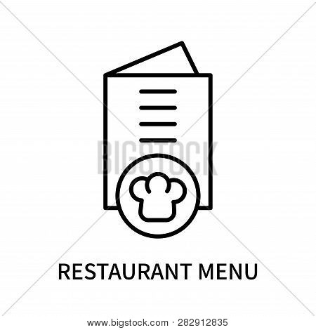 Restaurant Menu Icon Isolated On White Background. Restaurant Menu Icon Simple Sign. Restaurant Menu