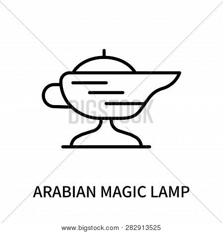 Arabian Magic Lamp Icon Isolated On White Background. Arabian Magic Lamp Icon Simple Sign. Arabian M
