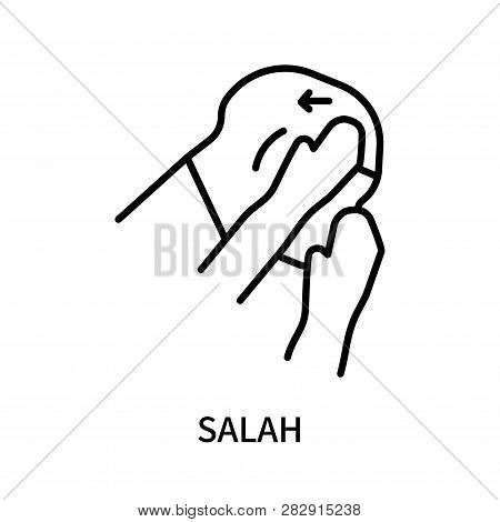 Salah Icon Isolated On White Background. Salah Icon Simple Sign. Salah Icon Trendy And Modern Symbol