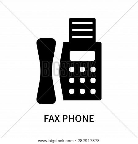 Fax Phone Icon Isolated On White Background. Fax Phone Icon Simple Sign. Fax Phone Icon Trendy And M