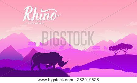 Rhinoceros Goes Vector & Photo (Free Trial)   Bigstock