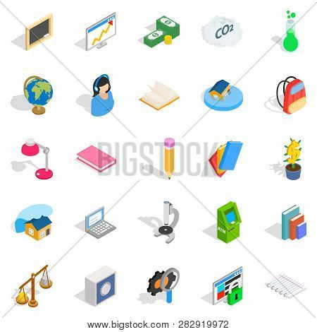 Reactions Icons Set. Isometric Set Of 25 Reactions Icons For Web Isolated On White Background