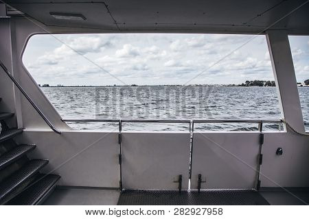 Inside A Boat In The Sea