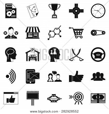 General Director Icons Set. Simple Set Of 25 General Director Icons For Web Isolated On White Backgr