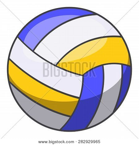 Volleyball Ball Icon. Cartoon Illustration Of Volleyball Ball Icon For Web Design