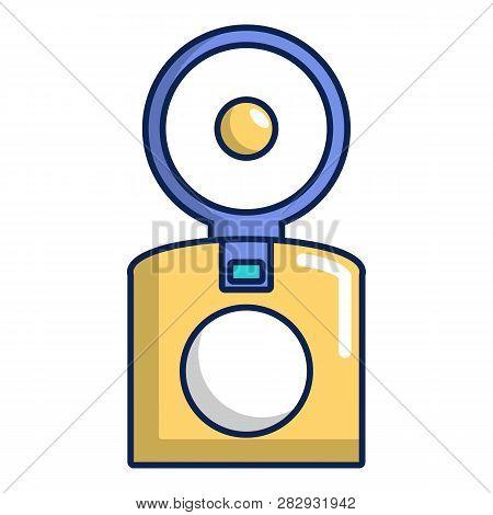 Oldschool Camera Icon. Cartoon Illustration Of Oldschool Camera Icon For Web Design