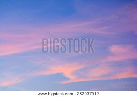 This Is Twilight Sky Or Evening Sky Which Is The Time Of Sunset. It Is Pleasant To Look At When Rela