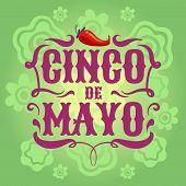 Mexican fiesta poster. Cinco de mayo invitation flyer. Latino festival vector background. Illustration of cinco de mayo banner or poster poster