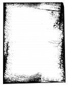 Grunge border ripped torn shredded abstract frame poster