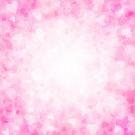 Pink Background With Hearts For Valentines Day. Illustration In Vector. You Can Use For Greeting Car