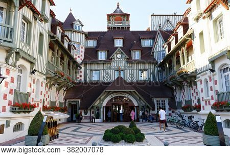Deauville, France- August 06 ,2020 : Famous Five Star Hotel - Le Normandy Hotel. A Traditional Archi