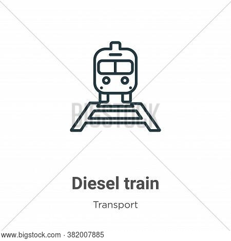 Diesel train icon isolated on white background from transport collection. Diesel train icon trendy a