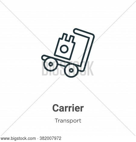 Carrier icon isolated on white background from transport collection. Carrier icon trendy and modern