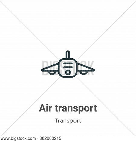Air transport icon isolated on white background from transport collection. Air transport icon trendy