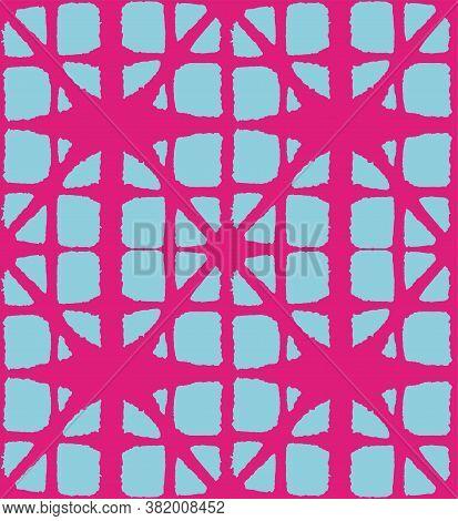 Japanese Tie Dye Seamless Pattern. Geometric Bohemian Asian Tie Dye Texture. Glamour Kimono Fabric.