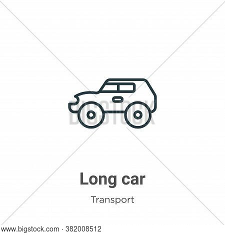 Long car icon isolated on white background from transport collection. Long car icon trendy and moder