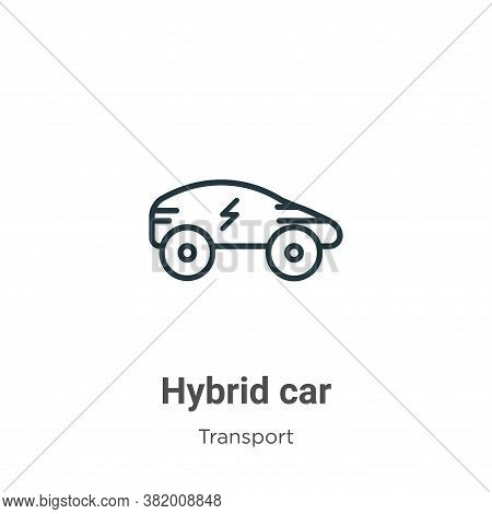 Hybrid car icon isolated on white background from transport collection. Hybrid car icon trendy and m
