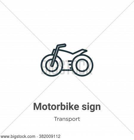 Motorbike sign icon isolated on white background from transport collection. Motorbike sign icon tren