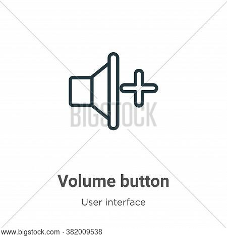 Volume button icon isolated on white background from user interface collection. Volume button icon t