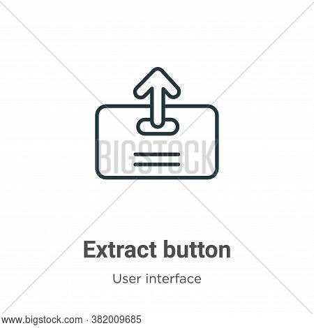 Extract button icon isolated on white background from user interface collection. Extract button icon
