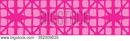 Japanese Tie Dye Seamless Pattern. Rich Vip Japanese Clothes Print. Bohemian Geometric Asian Tie Dye