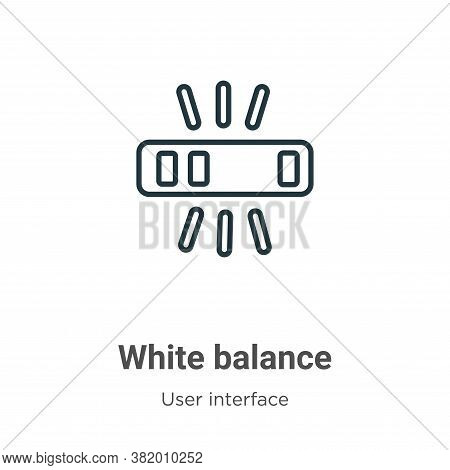 White balance icon isolated on white background from user interface collection. White balance icon t