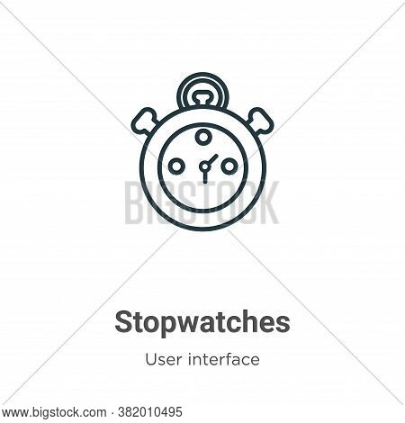 Stopwatches icon isolated on white background from user interface collection. Stopwatches icon trend