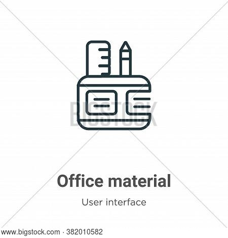 Office material icon isolated on white background from user interface collection. Office material ic