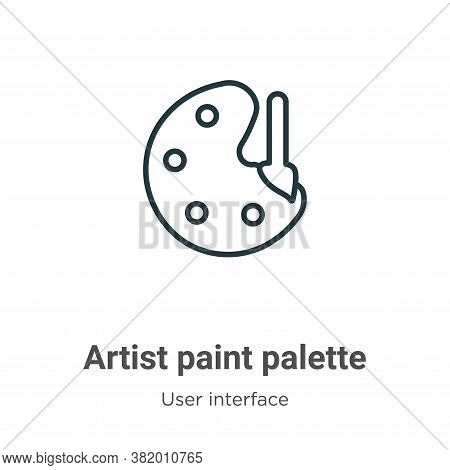 Artist paint palette icon isolated on white background from user interface collection. Artist paint