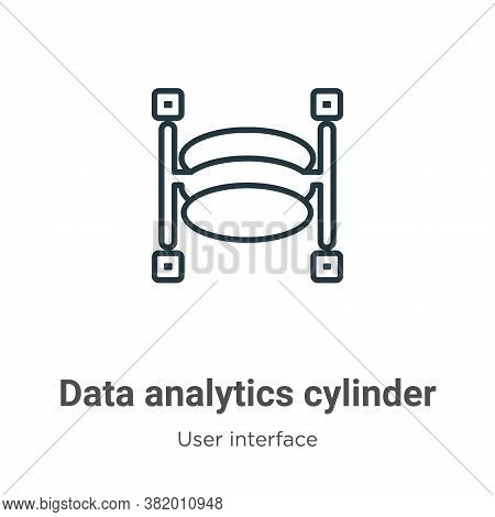 Data analytics cylinder icon isolated on white background from user interface collection. Data analy
