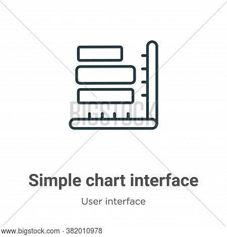 Simple chart interface icon isolated on white background from user interface collection. Simple char