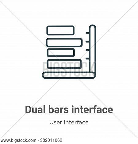 Dual bars interface icon isolated on white background from user interface collection. Dual bars inte