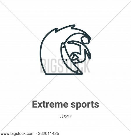 Extreme sports icon isolated on white background from user collection. Extreme sports icon trendy an