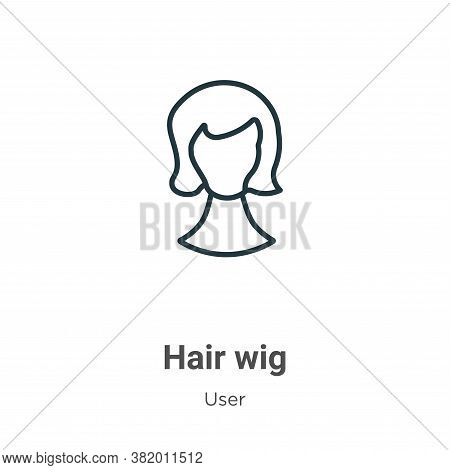 Hair wig icon isolated on white background from user collection. Hair wig icon trendy and modern Hai