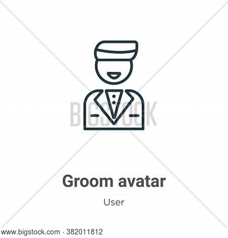 Groom avatar icon isolated on white background from user collection. Groom avatar icon trendy and mo
