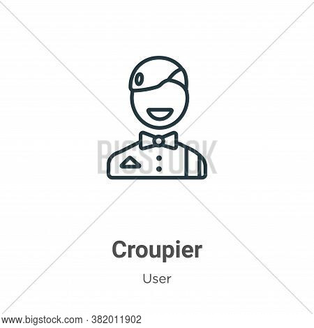 Croupier icon isolated on white background from user collection. Croupier icon trendy and modern Cro